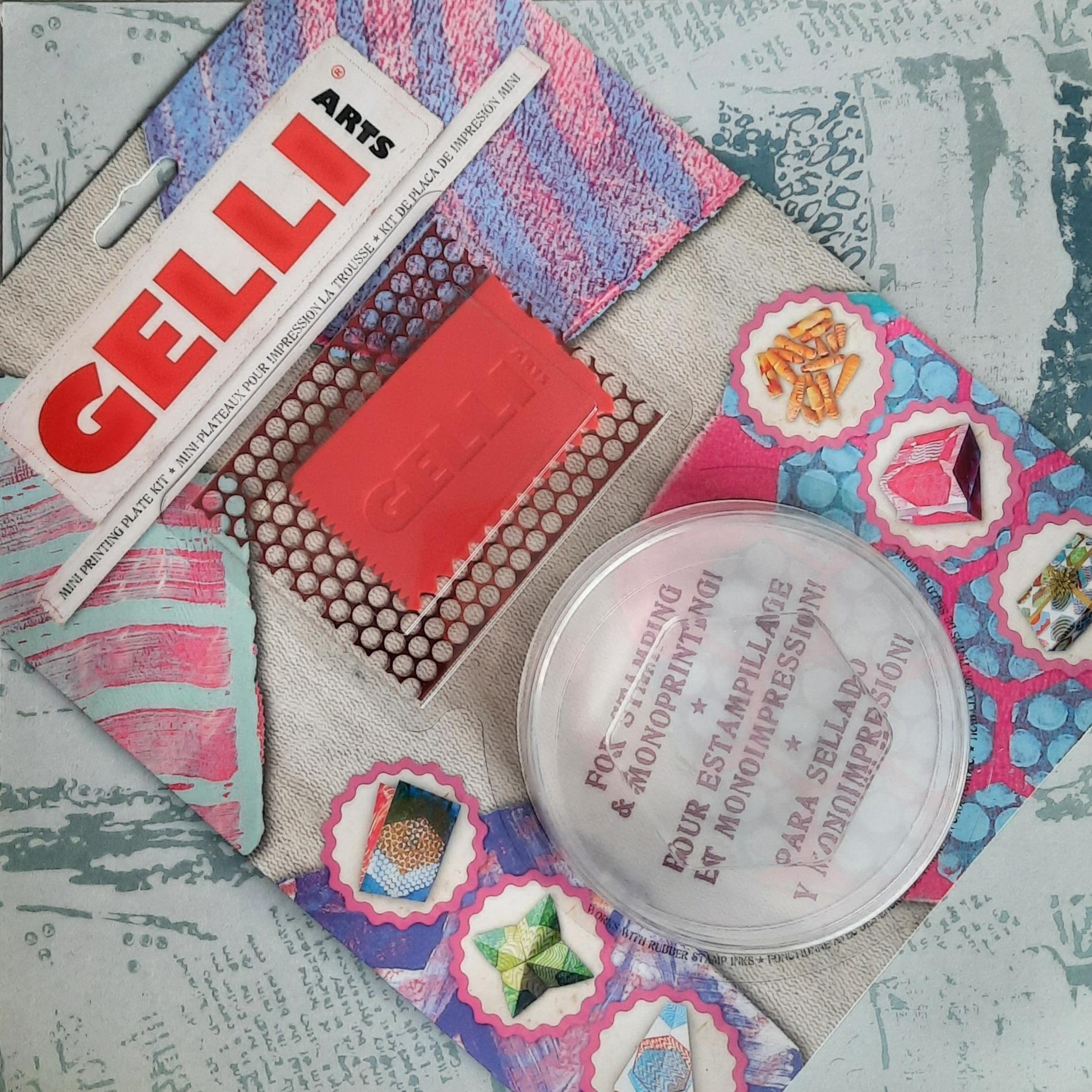 Gelli Arts Hexagon Plate Mini Kit 3 inch