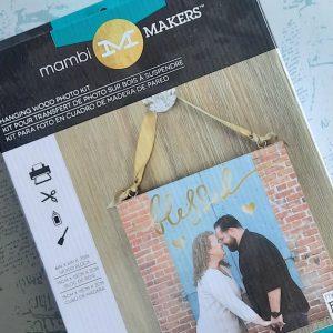 MAMBI Hanging Wood Photo kit