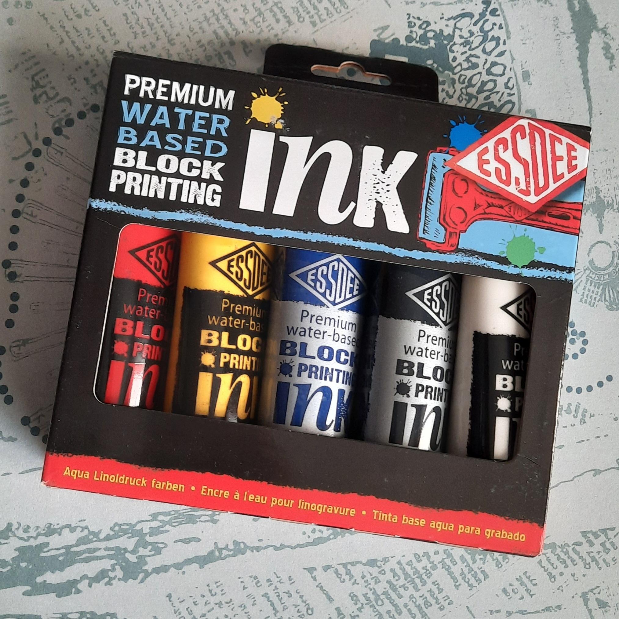 Lino Print Premium Ink 5 multi pack