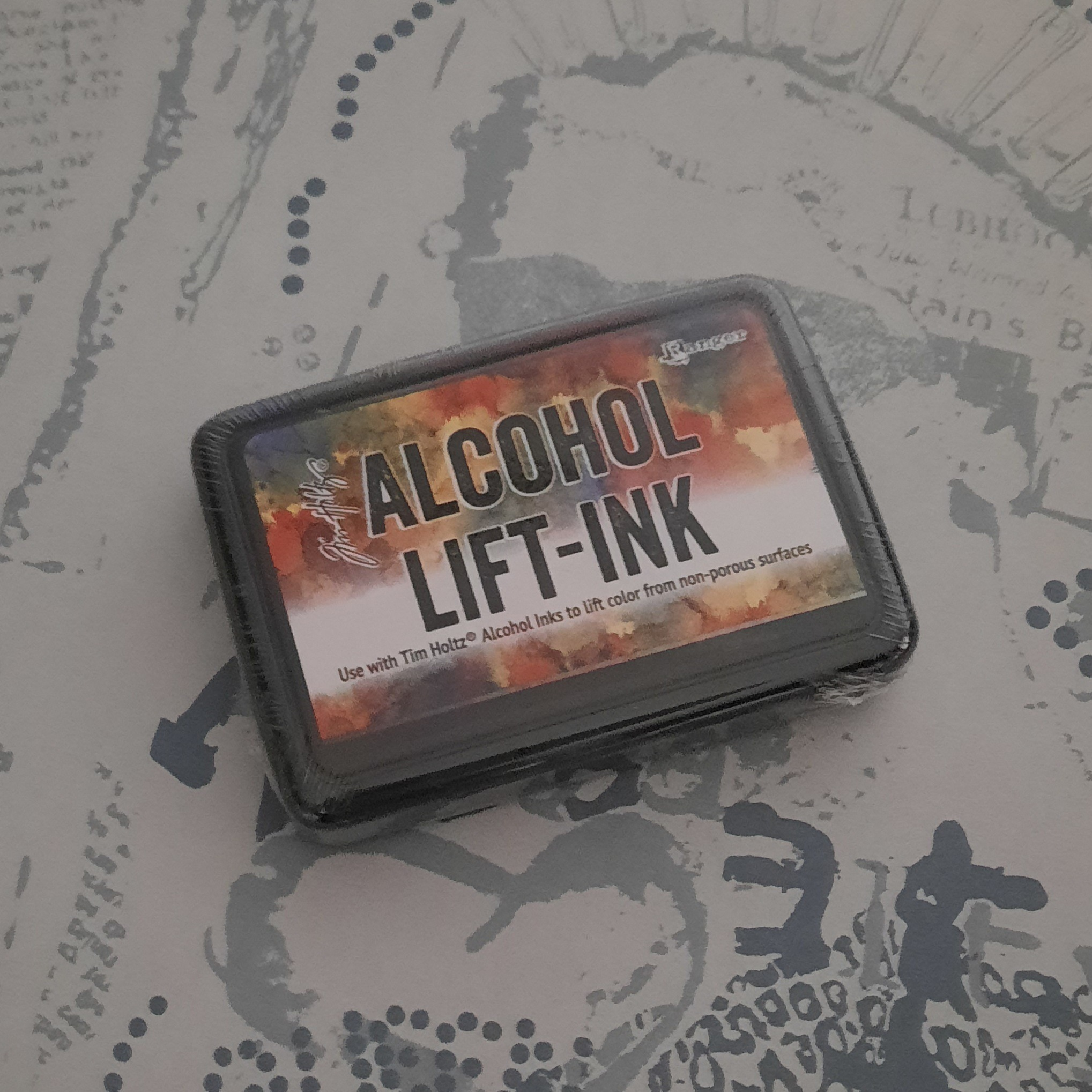 Alcohol lift ink
