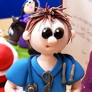 Healthcare staff figurine