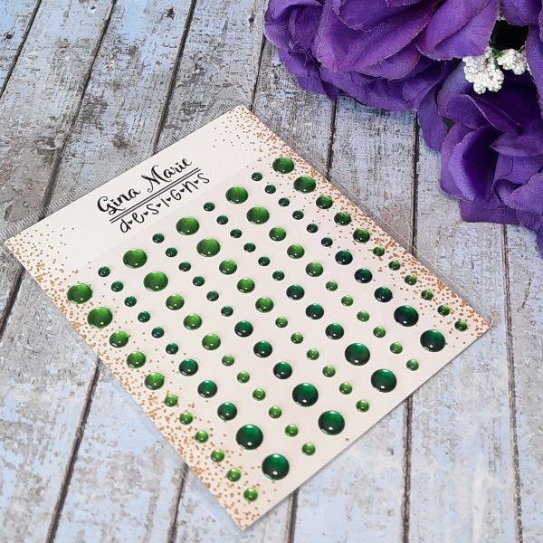 Gina Marie Designs Enamel Dots Emerald Waters