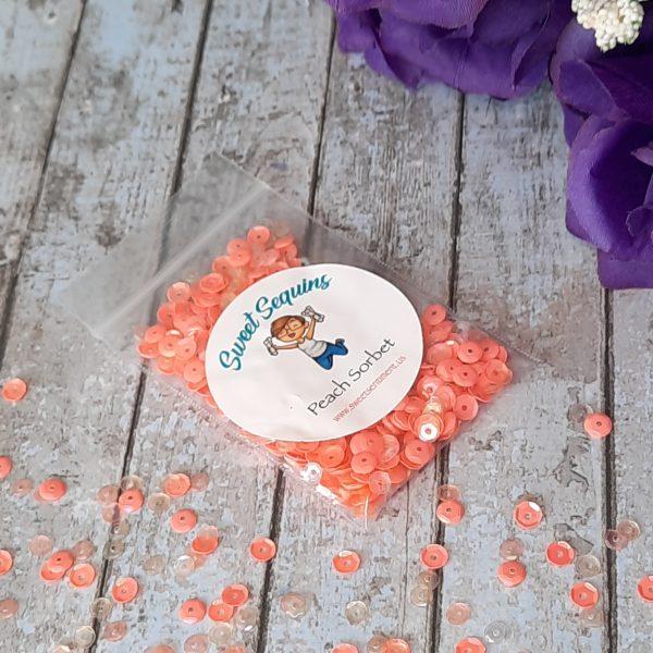 sweet Sentiment Sweet Sequins Peach Sorbet