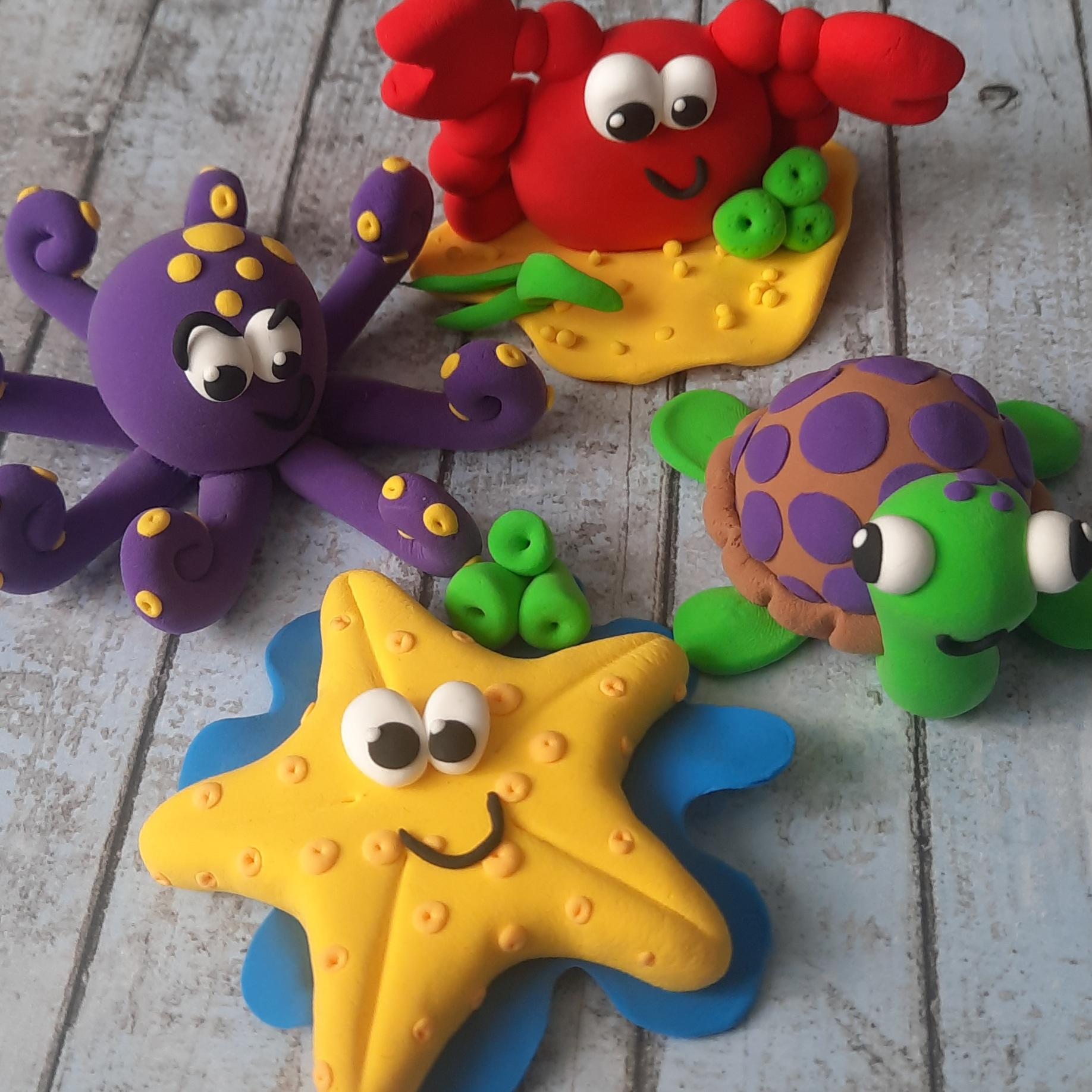 Clay kit Seaside Animals