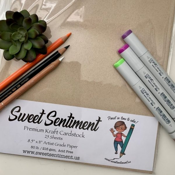 Sweet Sentiment Cardstock Kraft