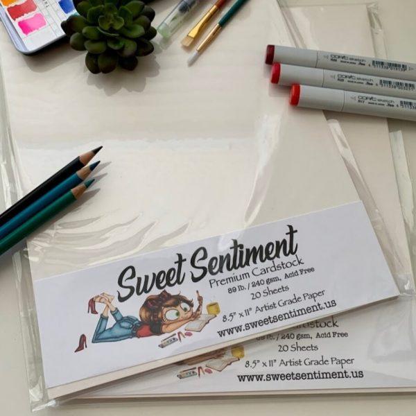 Sweet Sentiment Cardstock Off White