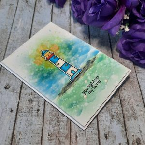 Handcrafted Card - You Light Up My World