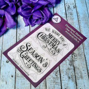Downland Crafts Festive Greetings Stamp Set