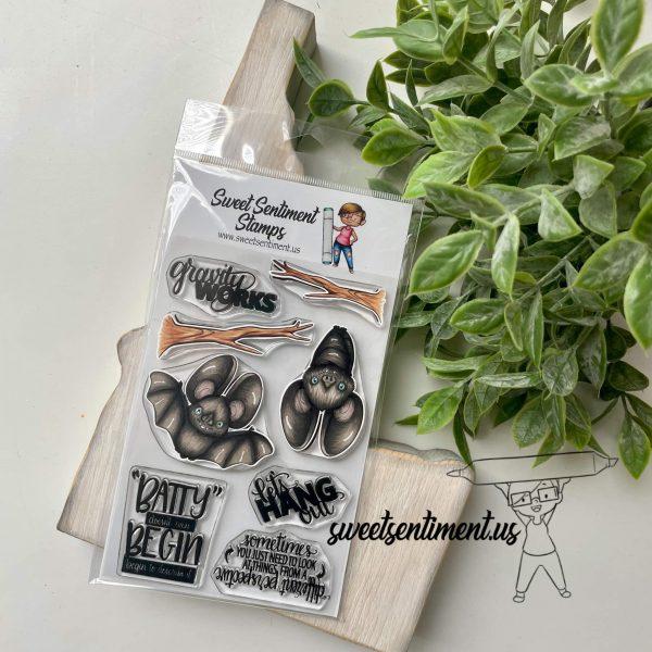 Sweet Sentiment September Release Let's Hang Stamps